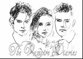 astonishing vampire diaries coloring pages vampire coloring