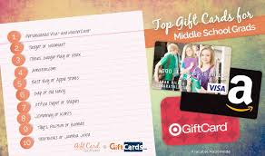 gift cards for kids top 10 gift cards for middle school graduates gcg