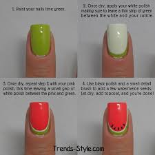 watermelon nail art tutorial entertainment news photos u0026 videos