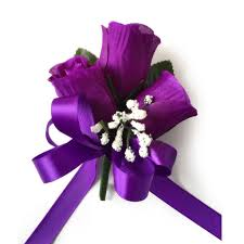 purple corsage colorful artificial flower wedding bouquet corsage pin corsage