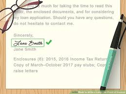 Request Letter For Certification Of Employment Sles How To Write A Letter For Proof Of Income With Sample Letters
