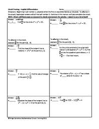circuit training implicit differentiation calculus tpt