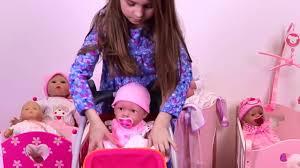Baby Doll High Chair Set Baby Doll Nursery Toy Set Stroller Toy Pram For Dolls High