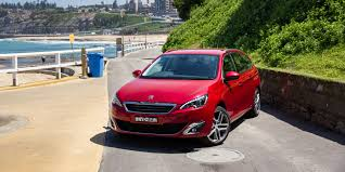 peugeot wagon peugeot 308 touring v volkswagen golf wagon comparison review