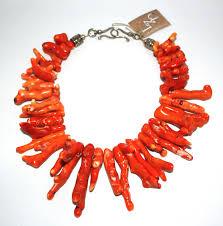 coral necklace images Large branch orange coral necklace lisa zipperer designs