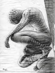 black spiderman drawings pencil spiderman drawingraghartist