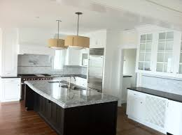 tasteful white open kitchen designs with white cabinets and white