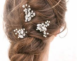 decorative hair pins wedding hair pins of flowers and pearls bridal bobby set of