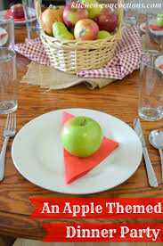 fall trail mix cookies and an apple themed dinner party complete