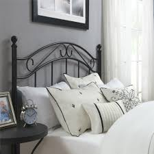dorel living mainstays full queen metal headboard black