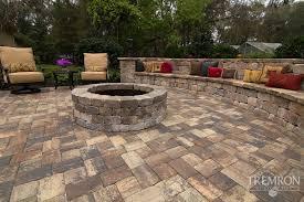 stone texture paver designs tremron pavers paver patio ideas