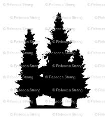 pine tree trio fabric wiseideastudios spoonflower