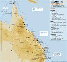 map of queensland qld forecast map png