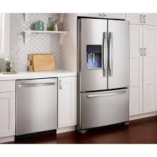 frigidaire glass door fridge kitchen accessories amana textured black french door refrigerator