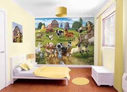 kids wall stickers wall stickers for kids farmyard boys wallpaper murals for kids bedroom