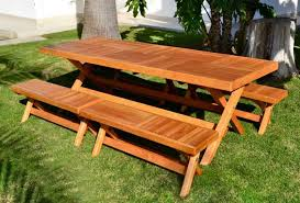 folding table with bench redwood rectangular folding picnic table with fold up legs