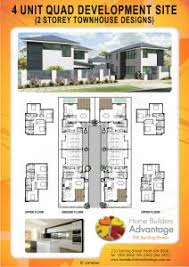 duplex triplex and quad floor plans by hba