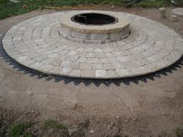 charming circle paver patio kits 5 firepit with cobble circle