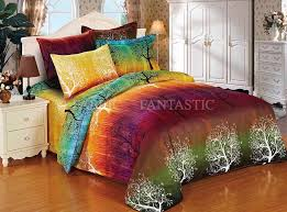 Orange King Size Duvet Covers Rainbow Tree Duvet Doona Quilt Cover Set Queen King Size Super