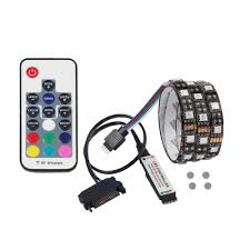 pc led light strips 200cm magnetic sata rgb led strip light background light with
