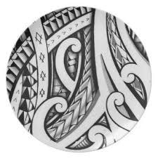 tribal tattoo designs plates zazzle