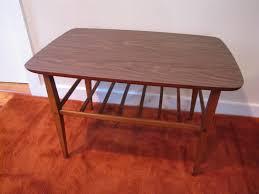 vintage lane end table lane side table with shelf mid