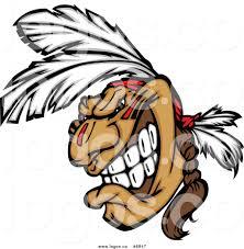 royalty free clip art vector logo of a native american brave man