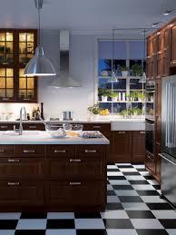 white tile kitchen floor modern design with drum ideas on black