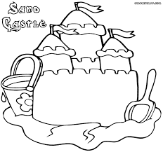 sandcastle coloring pages coloring pages to download and print
