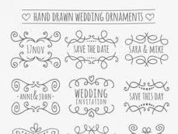 wedding ornaments collection free vectors ui