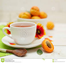 morning tea and summer fruit stock image image 26197883