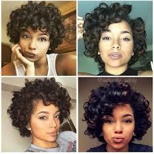 short roller set hair styles short hair large curls natural no heat styles pinterest