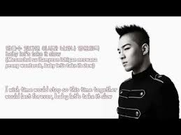 wedding dress lyric taeyang taeyang take it lyrics translation