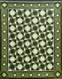 monochromatic colours quilts by jen quilt design in a green scheme