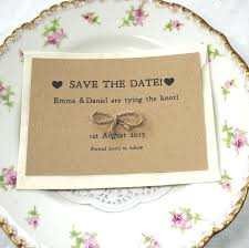 save the date cards tie the knot recycled save the date cards kraft save the date