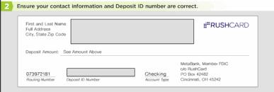 direct deposit card free rushcard direct deposit authorization form pdf eforms