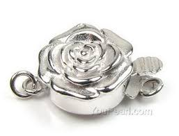 sterling silver bracelet clasps images Sterling silver 12mm single strand flower pearl clasps whole sale jpg