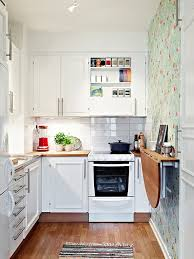 great small but beautiful kitchen love the one papered wall