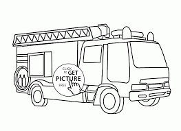 fire truck with ladder coloring page for kids transportation