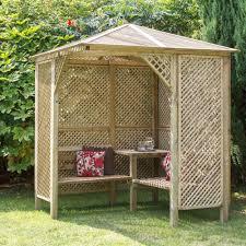 grange softwood corner lattice arbour arbors garden works and