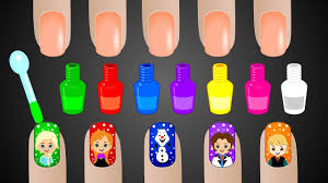 learn colors with surprise nail art designs colours to kids