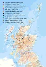 Map Of Scotland And England Routes Scotland Overland
