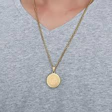 necklace with round pendant images Allah symbol round pendant necklace women men jpg