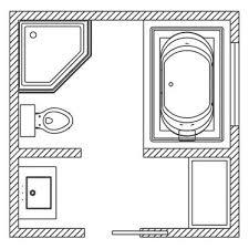 Small Bathroom Floor Plans 5 X 8 8x8 Bathroom Layout Floor Plan 101 Sqft Bathroom With Corner