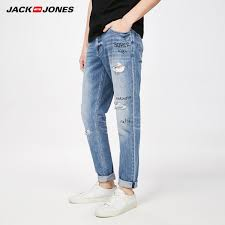 mens light colored jeans jack jones men s spring and summer new light colored hole