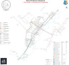 Bus Route Map Kostanay City Bus Route Map On Behance