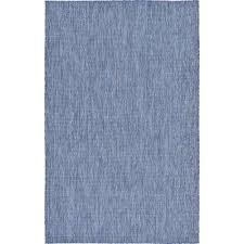 Solid Colored Rugs Blue Solid Gradient 5 X 8 Outdoor Rugs Rugs The Home Depot