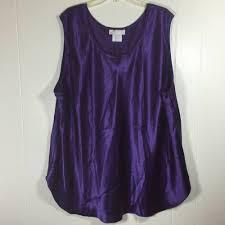 purple blouse plus size womens plus size 5x purple silkwear satin sleeveless shell tank