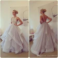 romantic light purple wedding dressers plus size crew applique