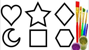 how to draw for kid learn shapes coloring pages learning colors